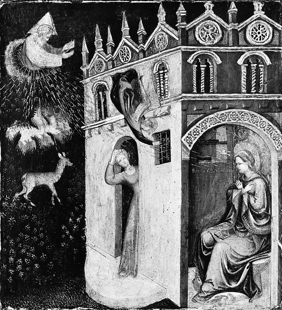 The Annunciation, Italian (Marchigian?) Painter (first half 15th century), Tempera and gold on wood