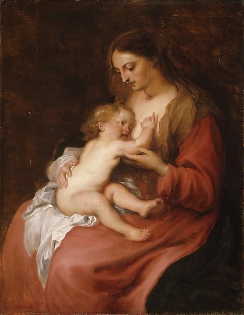 Virgin and Child, Anthony van Dyck (Flemish, Antwerp 1599–1641 London), Oil on wood