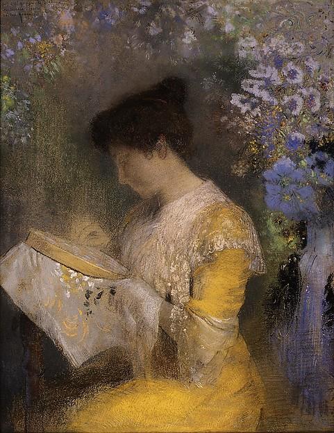 Madame Arthur Fontaine (Marie Escudier, born 1865), Odilon Redon (French, Bordeaux 1840–1916 Paris), Pastel on paper