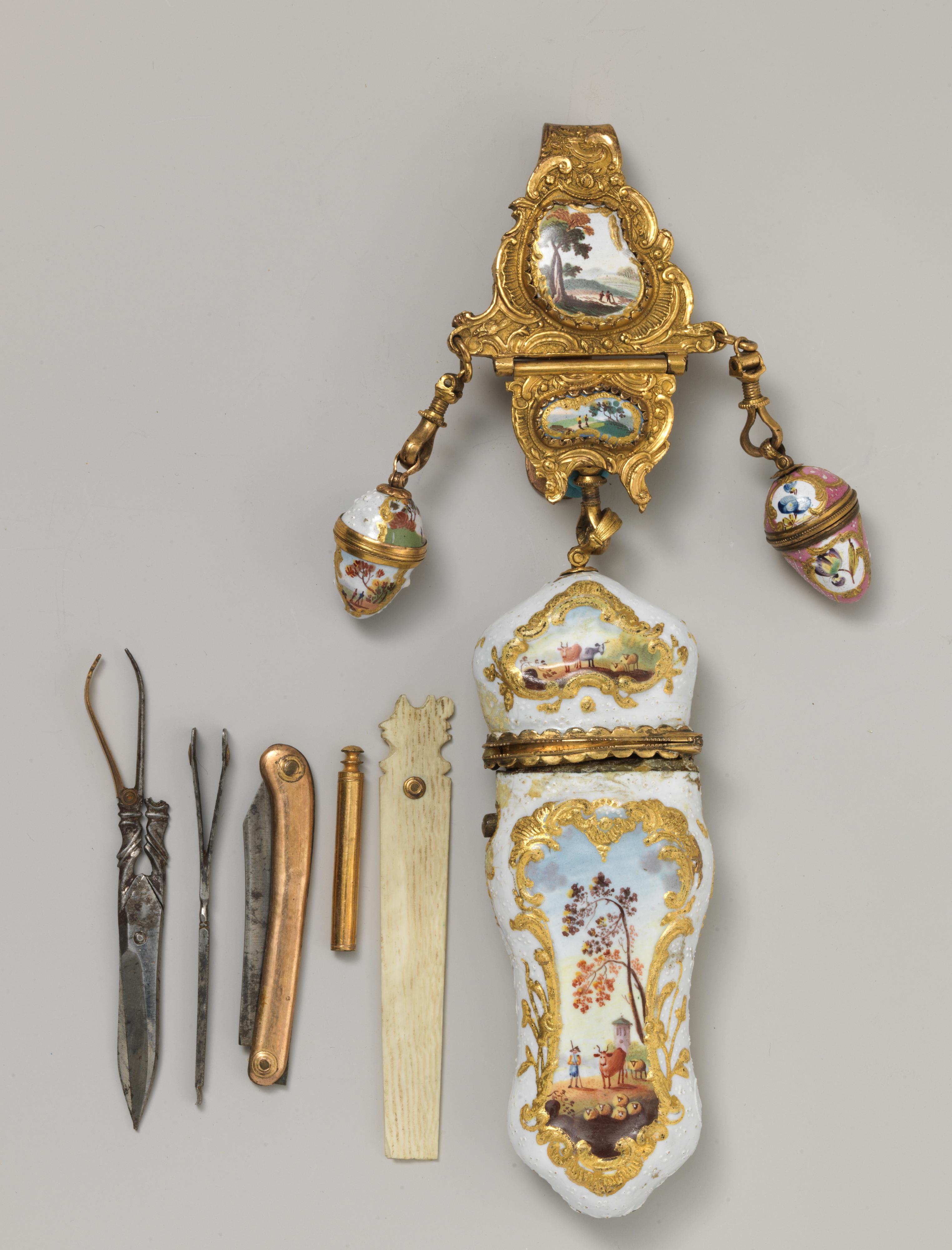 Nécessaire and châtelaine, c.1760-80