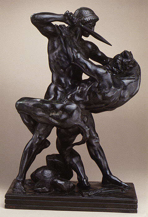 Antoine Louis Barye Theseus Slaying The Minotaur French The Metropolitan Museum Of Art