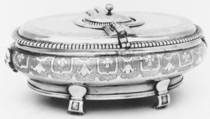 Spice box with grater, François Duran (master ca. 1740, died 1771), Silver, French, Narbonne (Perpignan Mint)