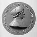 Altobello Averoldo of Brescia, Bishop of Pola (1497–1532), Medalist: Maffeo Olivieri (1484–1543/44), Lead, Italian, Brescia