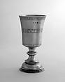Communion cup, Silver, parcel gilt, British, London