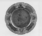 Dish, Engelbert Kayser (German, 1840–1911), Pewter, German