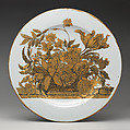 Plate (one of a pair), After a design by Jean-Baptiste Monnoyer (French, Lille 1636–1699 London), Hard-paste porcelain, Chinese, possibly for Scottish market