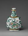 Pilgrim bottle, Faience (tin-glazed earthenware), French, Nevers