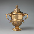 Two-handled cup with cover, Silver gilt, British, possibly London