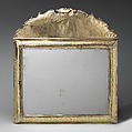 Mirror with cresting (part of a toilet service), William Fowle (1658–1684, active 1681–84), Silver gilt, British, London