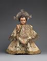 The Child Jesus Triumphant, Juan de Mesa (Spanish (Andalusian), Cordova 1583–1627 Seville), Polychromed lead, glass, silver, silk and silver-gilt lace, Spanish, Seville