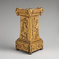 Pedestal, Matthew Boulton (British, Birmingham 1728–1809 Birmingham), Gilt bronze, British, Soho near Birmingham