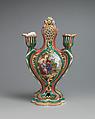 Potpourri vase with candleholders (pot-pourri à bobêche) (one of a pair), Sèvres Manufactory (French, 1740–present), Soft-paste porcelain, French, Sèvres