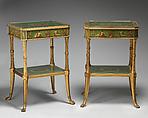 Pair of tables, Possibly James Stuart, Mahogany, oil glazes, British