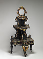 Étagère, Black lacquered, painted and gilded wood and papier mâché, mother-of-pearl, British