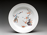 Plate with tiger and bamboo, Meissen Manufactory (German, 1710–present), Hard-paste porcelain painted with colored enamels over transparent glaze, German, Meissen