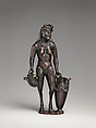 Satyr with urn (one of a pair), Andrea Briosco, called Riccio (Italian, Trent 1470–1532 Padua), Bronze, Italian, Padua