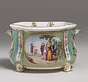 Flower vase (cuvette à fleurs Courteille) (one of a pair), Sèvres Manufactory (French, 1740–present), Soft-paste porcelain, French, Sèvres