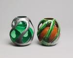 Vase, Max Läuger (German, 1864–1952), Glass, pewter, German, Nuremberg