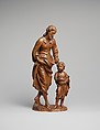 Saint Joseph and the Christ Child, Attributed to Nicolaas van der Veken (Flemish, Mechelen 1637–1709 Mechelen), Boxwood, Flemish, Malines (Mechelen)