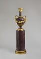 Vase on a column stand, Lapidary workshop: Hôtel des Menus-Plaisirs, Versailles, Egyptian porphyry, gilt-bronze mounts, French, Versailles and Paris