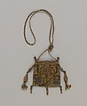 Purse, Silk and metal thread on canvas, British