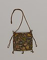 Purse, Canvas embroidered with silk, silver, and silver-gilt thread, British