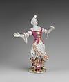 Dancing Girl, Vienna, Hard-paste porcelain, Austrian, Vienna