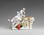 The Mouse Catchers, Capodimonte Porcelain Factory (Italian, 1740/43–1759), Soft-paste porcelain, Italian, Naples
