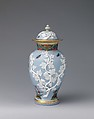 Vase (one of a set of three), Meissen Manufactory (German, 1710–present), Hard-paste porcelain, partially tinted gray-blue, German, Meissen