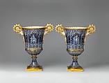 Vase (vase gothique Fragonard) (one of a pair), Sèvres Manufactory (French, 1740–present), Hard-paste porcelain, French, Sèvres