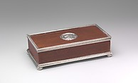 Table box, House of Carl Fabergé, Palisander wood, silver mounts, Russian, St. Petersburg
