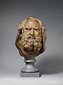 Head of a Bearded Elder, Augustin Pajou (French, Paris 1730–1809 Paris), Terracotta on a bleu turquin marble socle, French, probably Paris