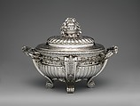 Tureen with cover and liner, Jacques-Nicolas Roettiers (1736–1788, master 1765, retired 1777), Silver, French, Paris