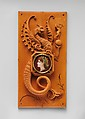 Panel, Charles Lepec (French, Paris 1830–after 1888), Boxwood, gilt-metal, painted ivory, mounted on gold velvet in a wooden and metal mounted frame, French, Reux