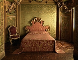 Bedroom from the Sagredo Palace, Stuccowork probably by Abbondio Stazio (Swiss (active Italy), Mossagno, near Lugano 1663–1745 Venice), Wood, stucco, marble, glass, Italian, Venice