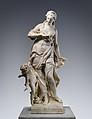 La Crainte des Traits de l'Amour, Jean-Louis Lemoyne (French, 1665–1755), Marble, French, Paris