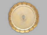 Dish (one of a set), Lewis Mettayer (British, active 1700, died 1740), Silver gilt, British, London