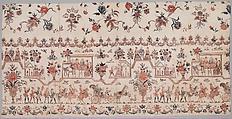 Petticoat panel, Cotton, painted resist and mordant, dyed, Indian, Coromandel Coast, for Dutch market