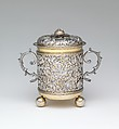 Two-handled cup with cover, Silver; silver gilt, British, London