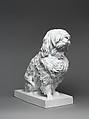 Musette, a Maltese dog, Jean-Baptiste Gille (French, 1798–1868, active Paris), Hard-paste porcelain, French, Paris