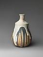 Gourd vase, Jean-Joseph Carriès (French, Lyons 1855–1894 Paris), Stoneware, French, Saint-Amand-en-Puisaye