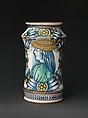 Storage Jar (Albarello), Maiolica (tin-glazed earthenware), Italian, Deruta
