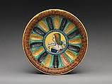 Basin or bowl with Laura Bella, Maiolica (tin-glazed earthenware), Italian, probably Faenza