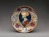 Shallow bowl with a bearded saint, Workshop of Maestro Giorgio Andreoli (Italian (Gubbio), active first half of 16th century), Maiolica (tin-glazed earthenware), lustered, Italian, Gubbio
