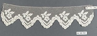Fragment, Bobbin lace, Flemish, Brussels