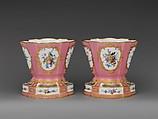 Pair of flower vases (vases hollandois), Sèvres Manufactory (French, 1740–present), Soft-paste porcelain, French, Sèvres