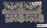 Sample, Needle lace, Point de Gaze, Belgian, Brussels