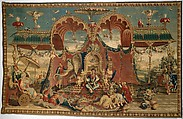 The Audience of the Emperor from the series The Story of the Emperor of China, Guy Louis Vernansal the Elder (French, Fontainebleau 1648–1729 Paris), Wool, silk (19-20 warps per inch, 8 per cm.), French, Beauvais