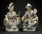 Chinese Couple, Meissen Manufactory (German, 1710–present), Hard-paste porcelain, German, Meissen