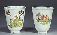 Beakers (2), Vezzi Factory (Italian, 1720–1727), Hard-paste porcelain, Italian, Venice